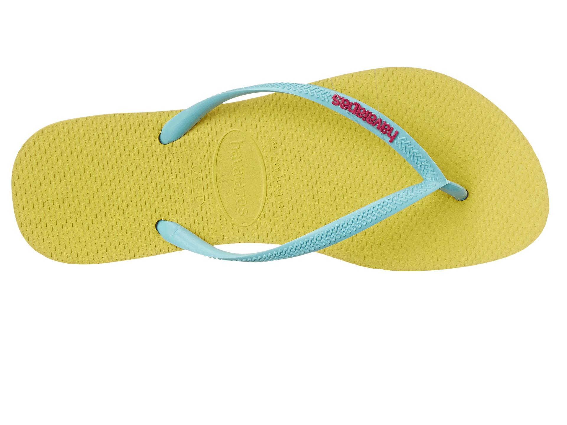 3775b7b07c745 Havaianas Blue Slim Logo Pop-up Flip Flops