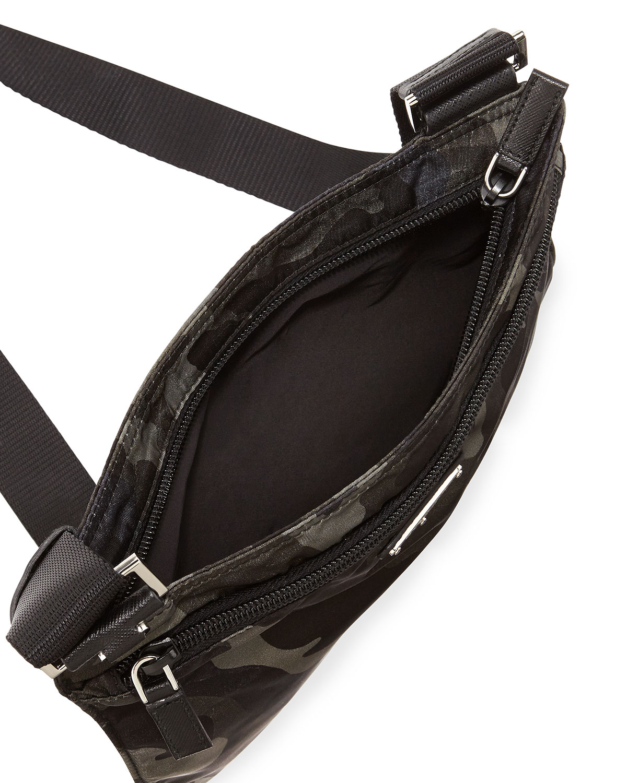 29e8775343e829 Prada Tessuto Camo-Print Crossbody Bag in Green for Men - Lyst