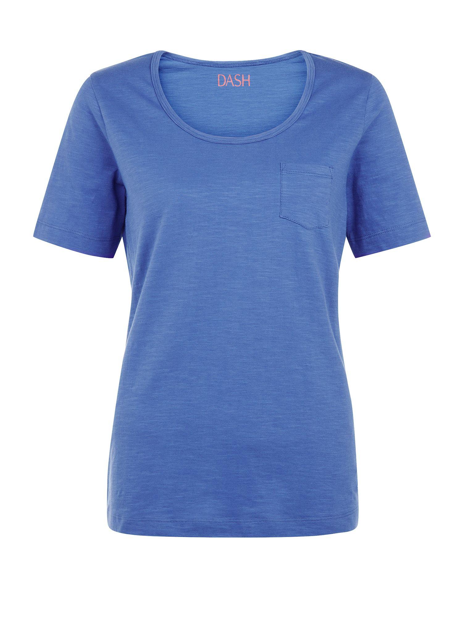 Dash patch pocket slub t shirt in blue bright blue lyst for What is a slub shirt