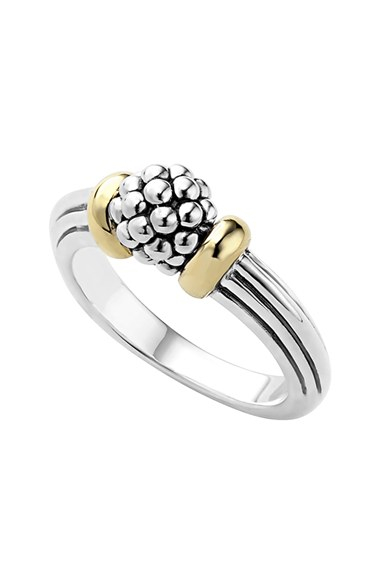 Lagos Caviar Forever Small Dome Ring In Metallic Lyst