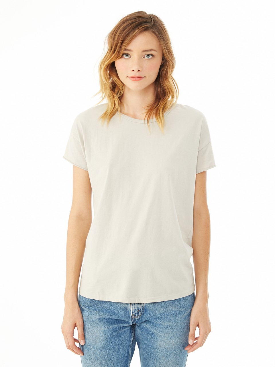 Alternative apparel rocker garment dyed t shirt in silver for Silver jeans t shirts