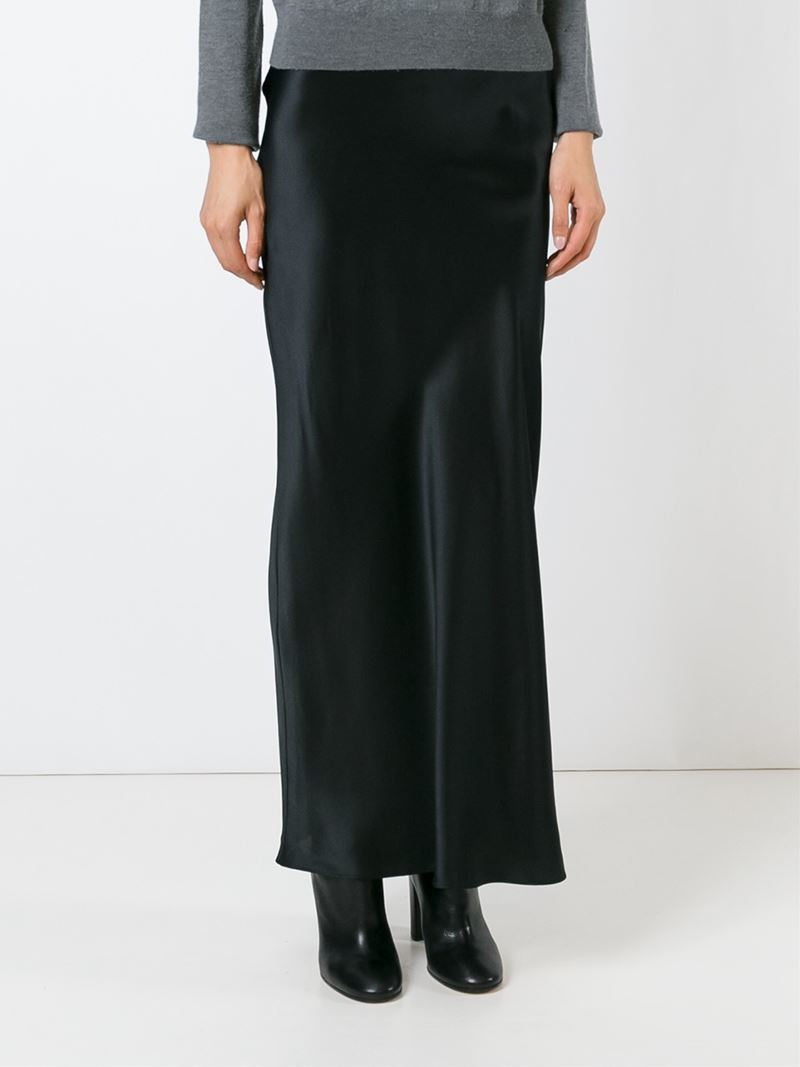 Lyst - Joseph Long Straight Skirt in Black