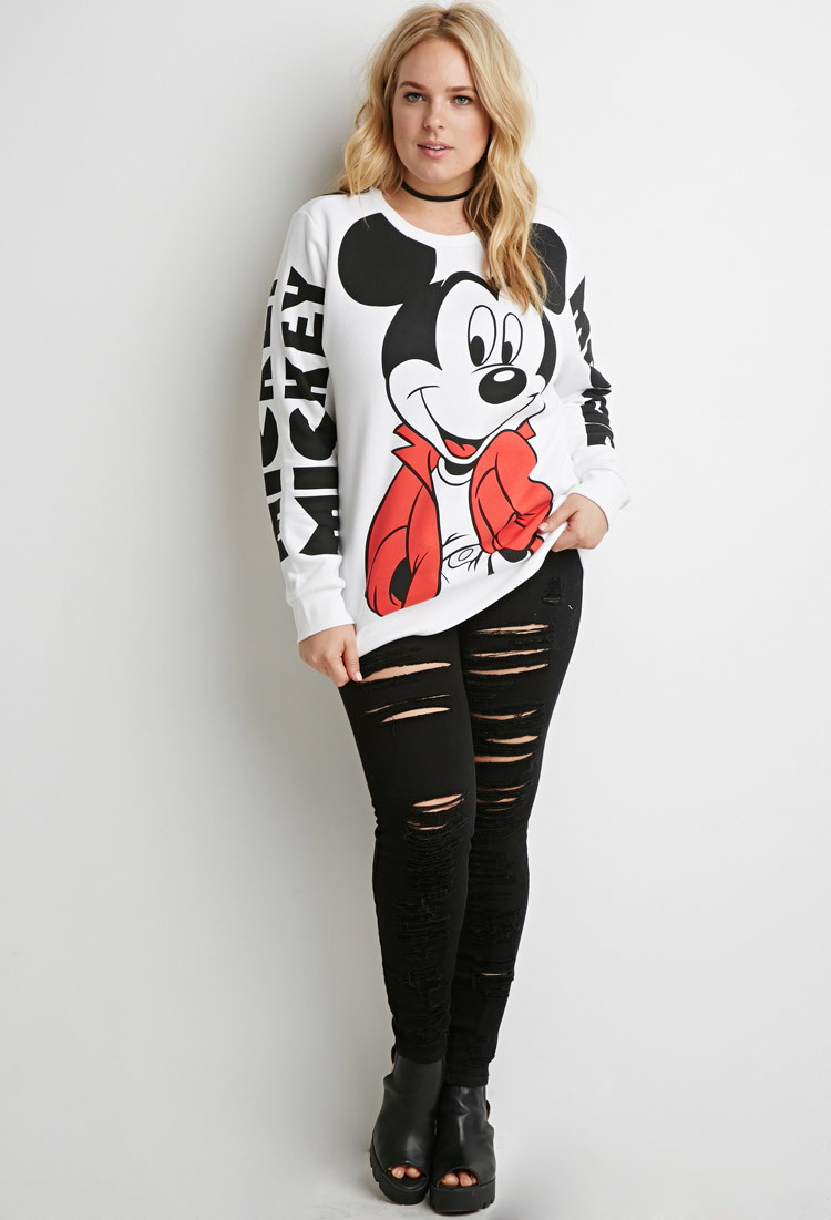 21 Mickey Mouse Nail Art Designs Ideas: Forever 21 Plus Size Mickey Mouse Graphic Sweatshirt In