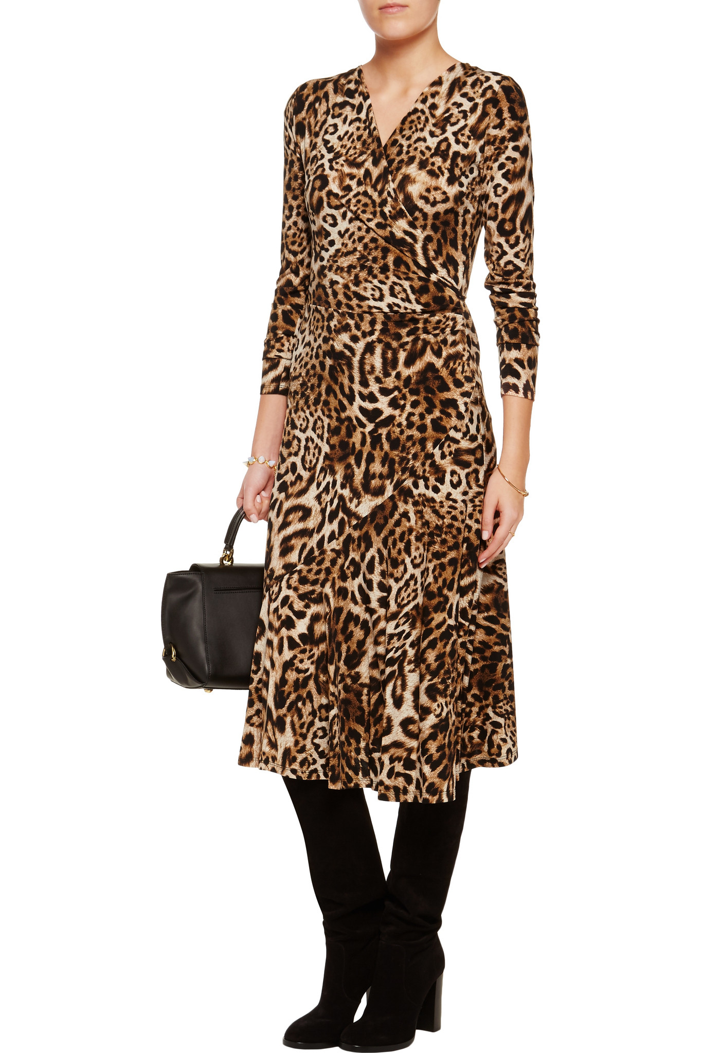 Michael Michael Kors Synthetic Leopard Print Stretch