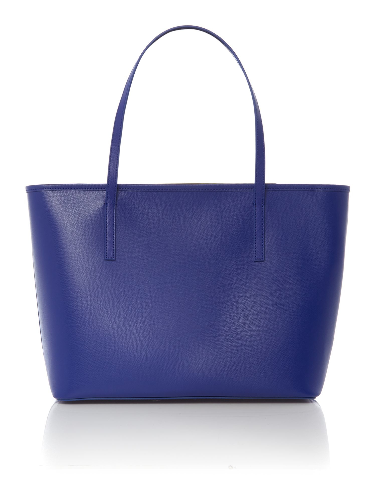 Ted Baker Leather Alanis Black Saffiano Tote Bag With Clutch in Blue