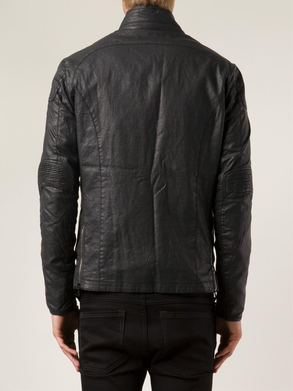 John Varvatos Button Up Jacket in Black for Men