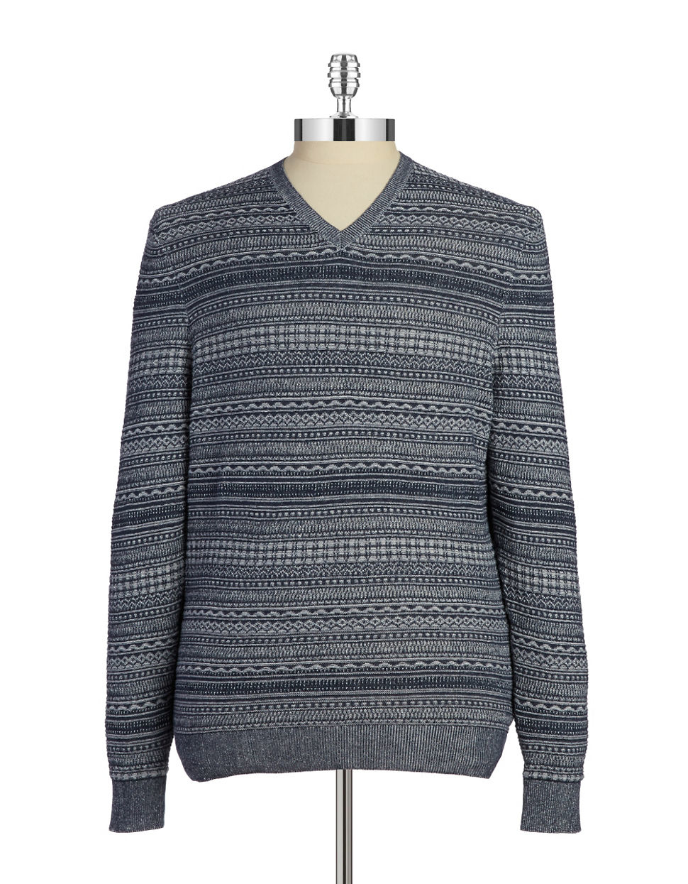 lyst hudson north fair isle knit pullover in black for men. Black Bedroom Furniture Sets. Home Design Ideas