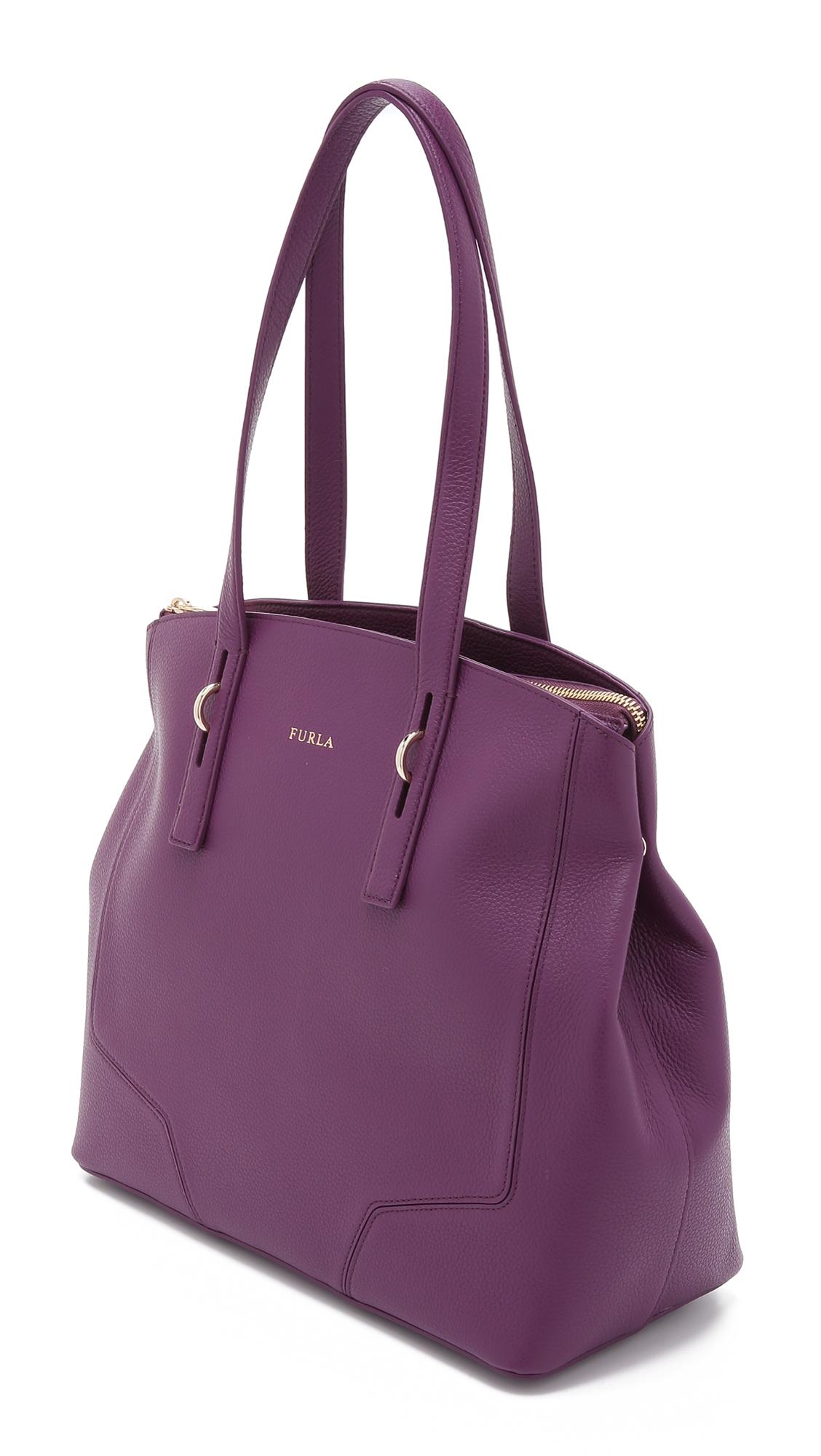 Furla Perla Medium Tote Aubergine In Purple Lyst