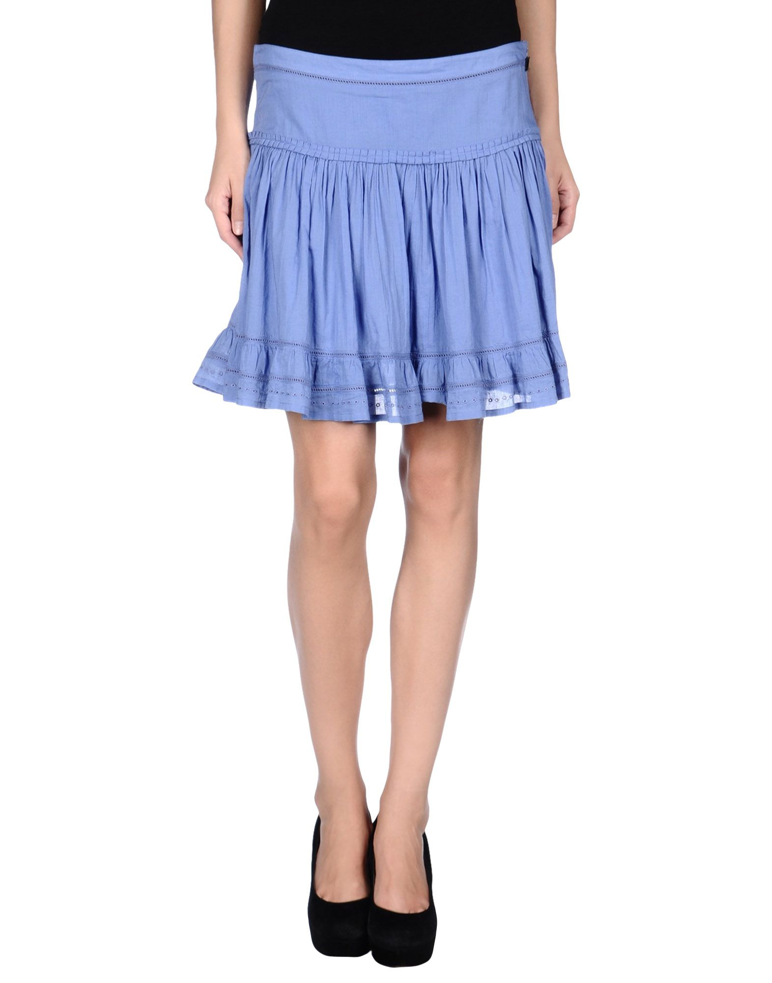 galliano mini skirt in blue pastel blue save 81