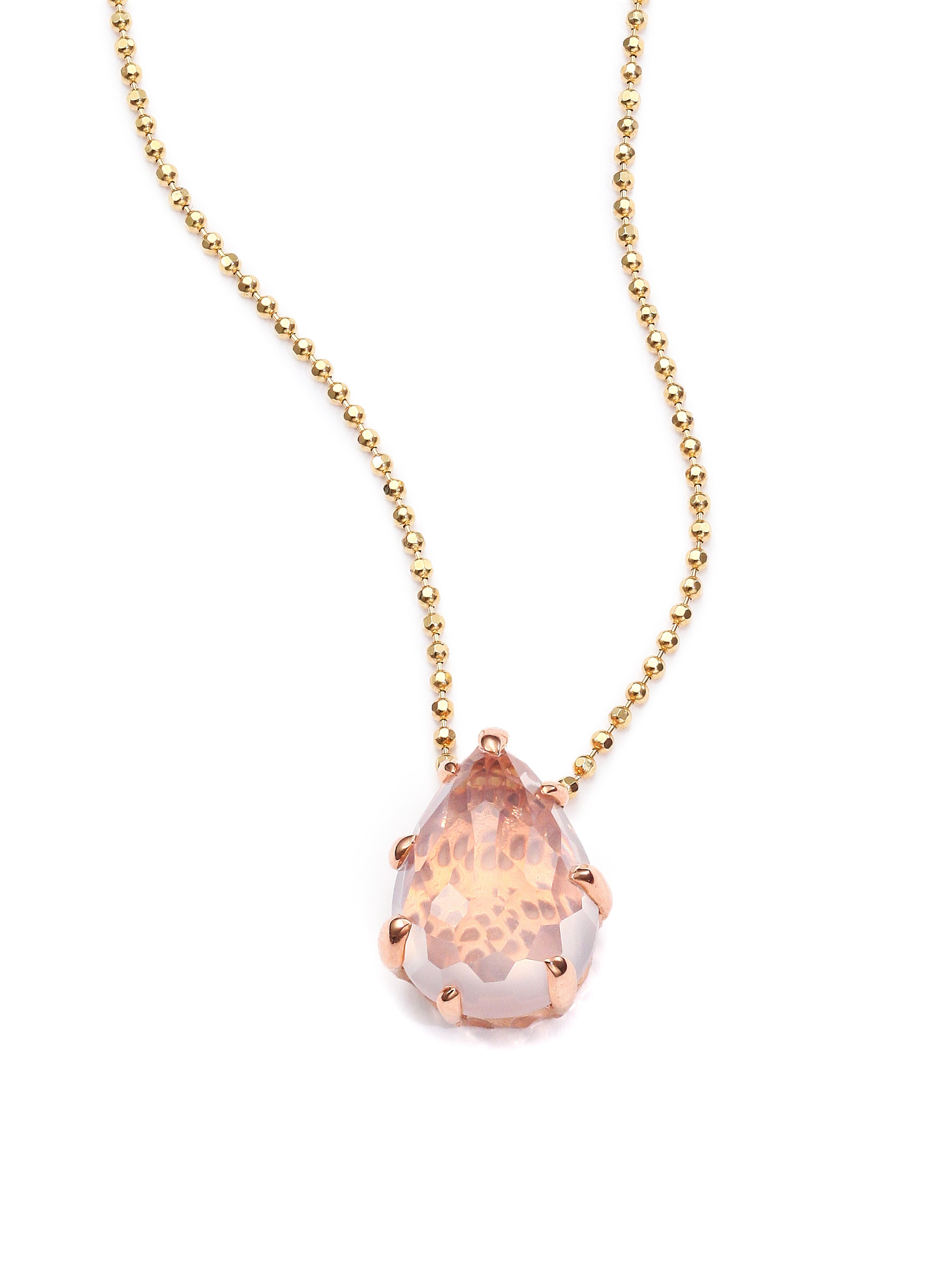 Lyst phillips house sunset rose quartz 14k rose gold pendant gallery aloadofball Image collections