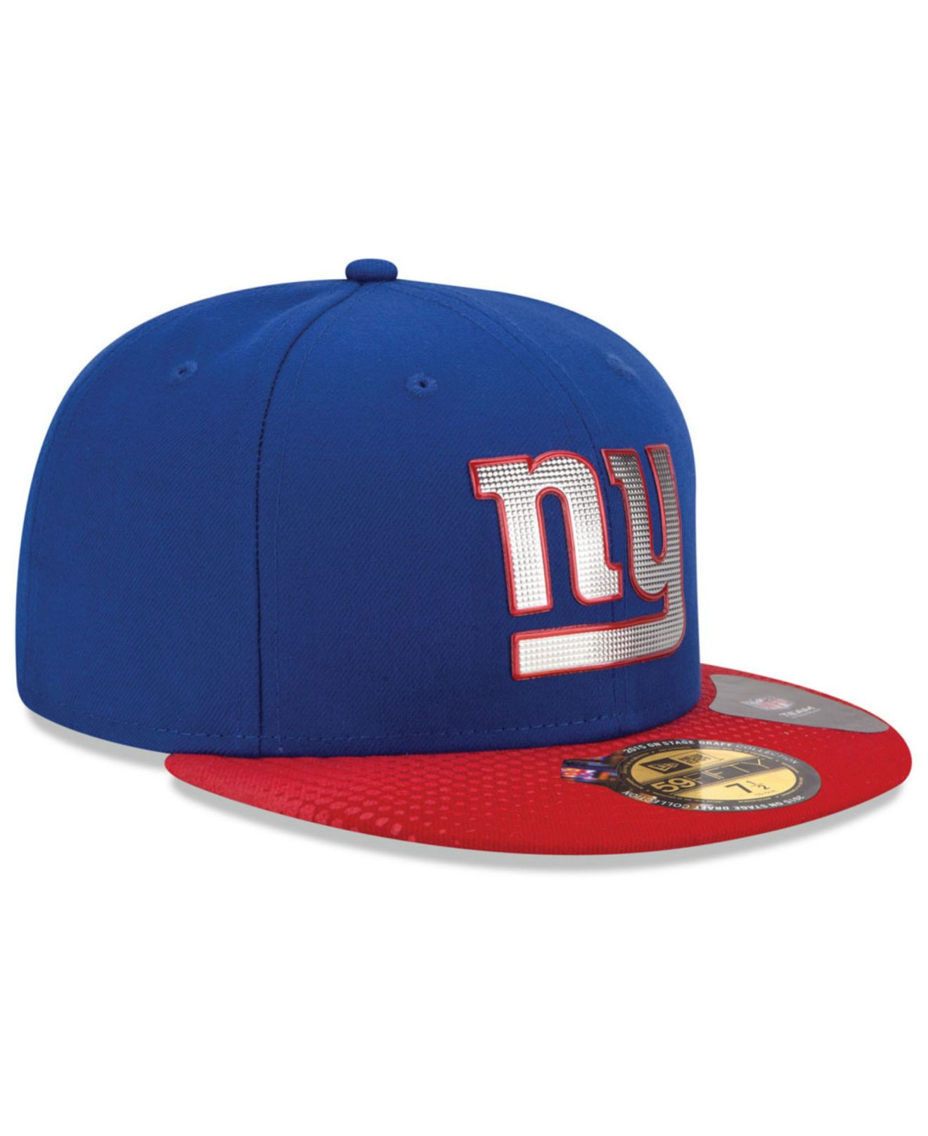 ktz new york giants 2015 nfl draft 59fifty cap in red for. Black Bedroom Furniture Sets. Home Design Ideas