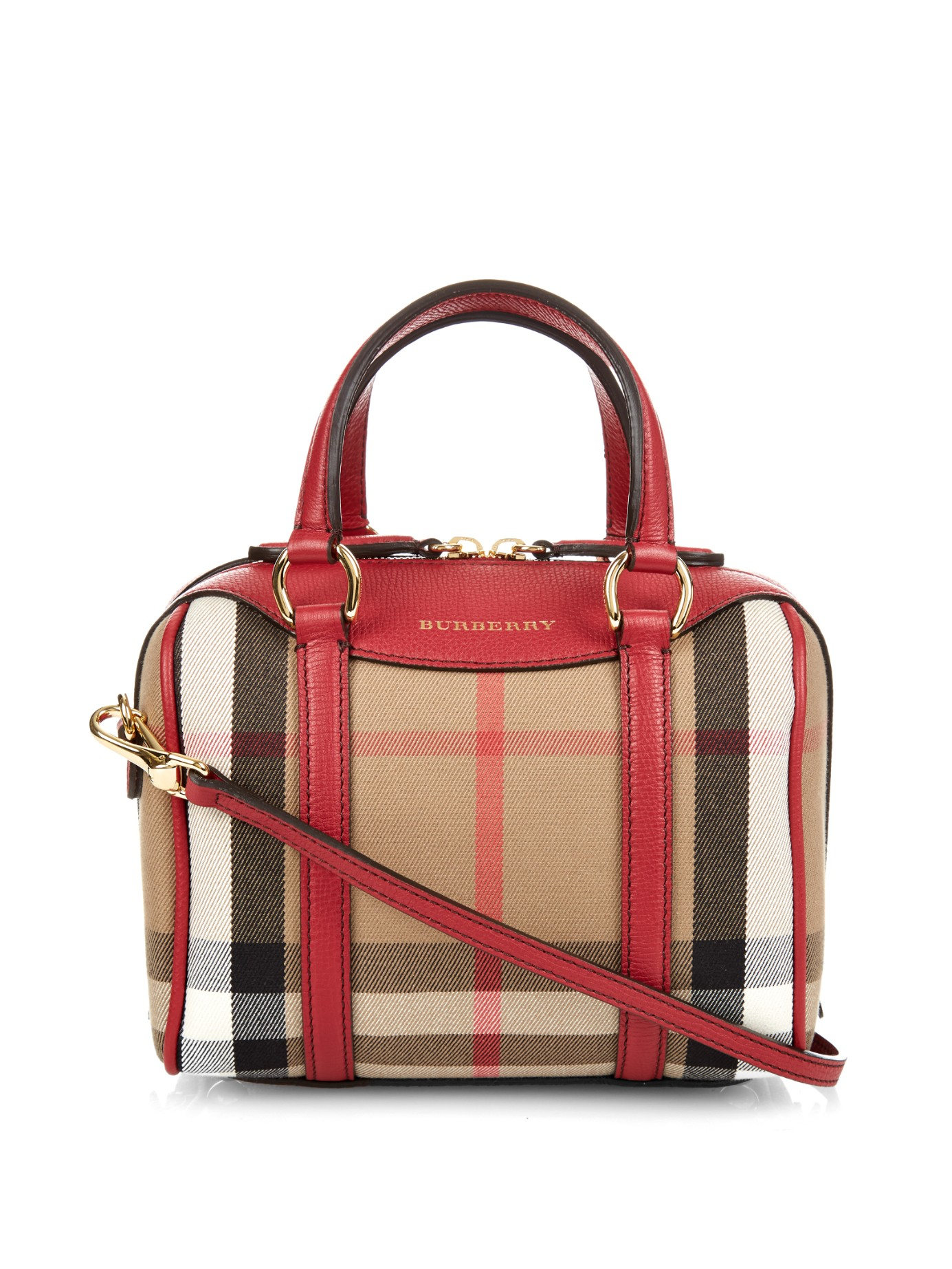 68bd16b2cc51 Lyst - Burberry Small Alchester Cross-Body Bag in Red