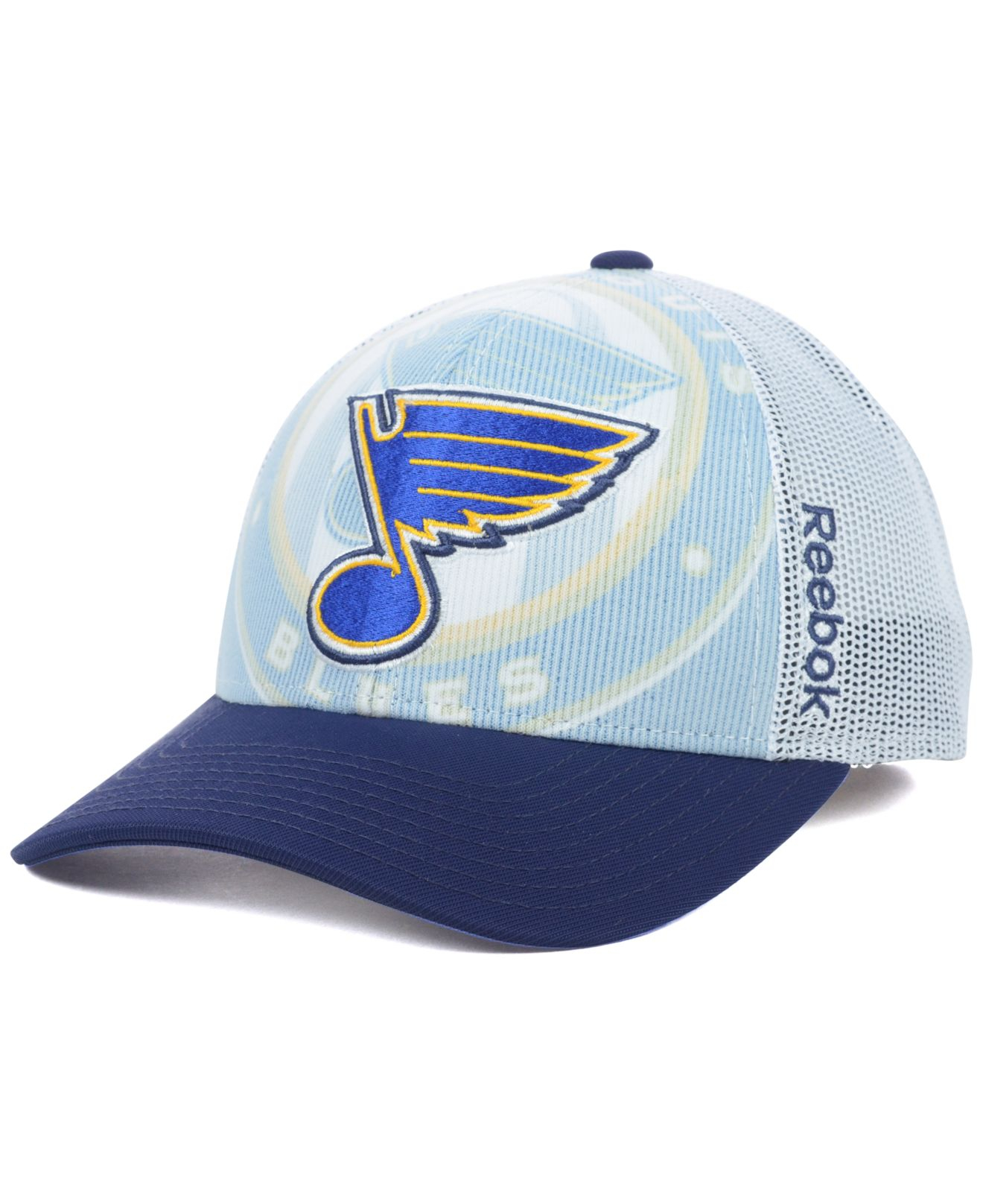 finest selection fa1fe c0146 ... flex hat 9667d 8f786  coupon code for lyst reebok st. louis blues nhl  2014 draft cap in blue for
