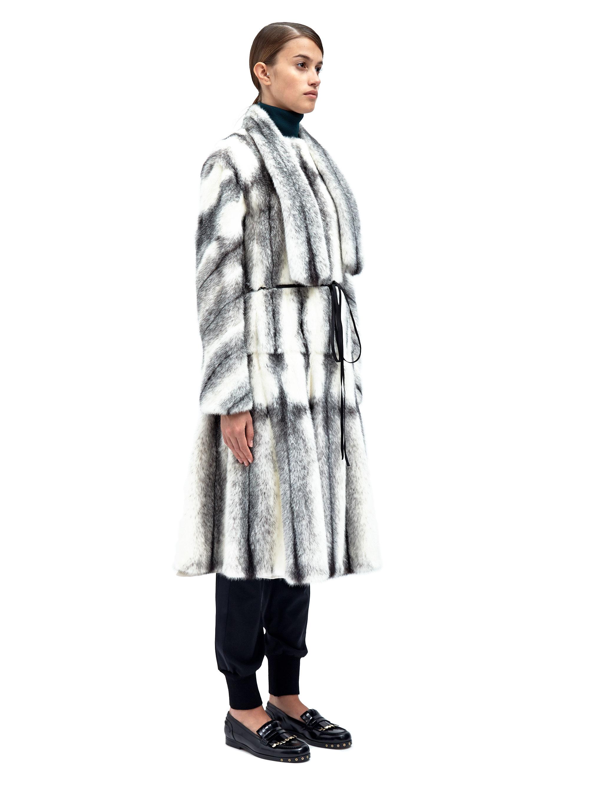 Lanvin Women's Mink Fur Coat in Gray | Lyst
