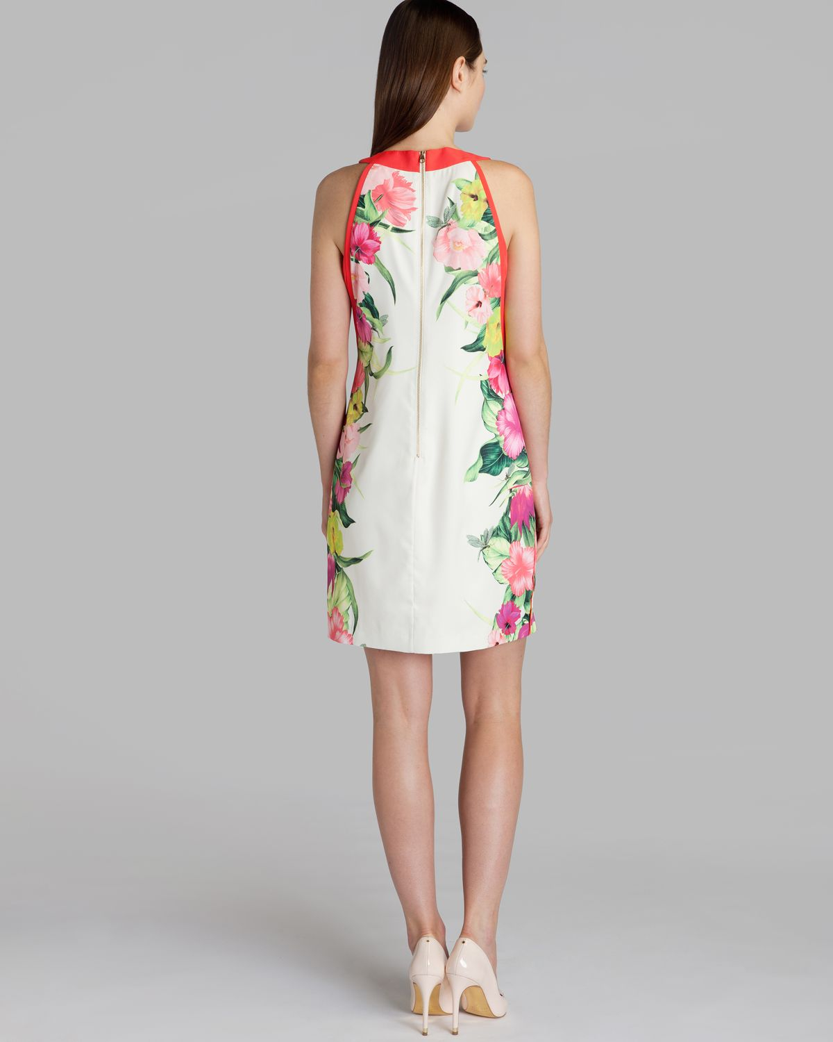 f728ca6f791 Ted Baker Dress Termoa Floral Print Tunic in Natural - Lyst