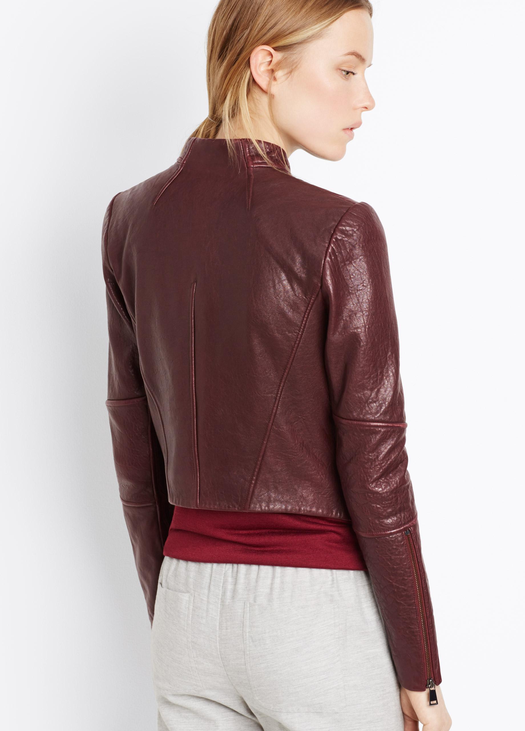 Vince asymmetrical leather jacket