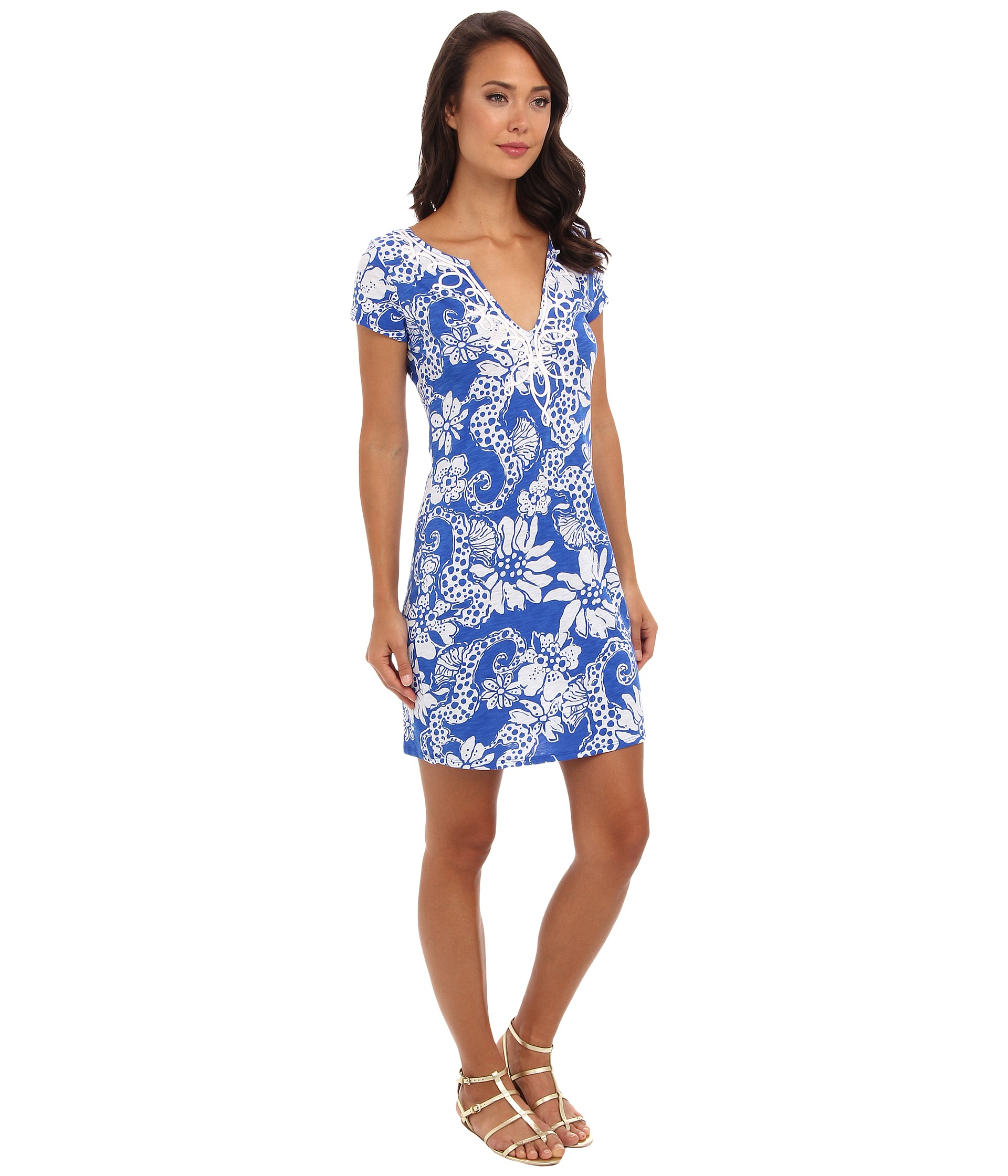 591f6a407c595a Lilly Pulitzer Brewster T-shirt Dress in Blue - Lyst