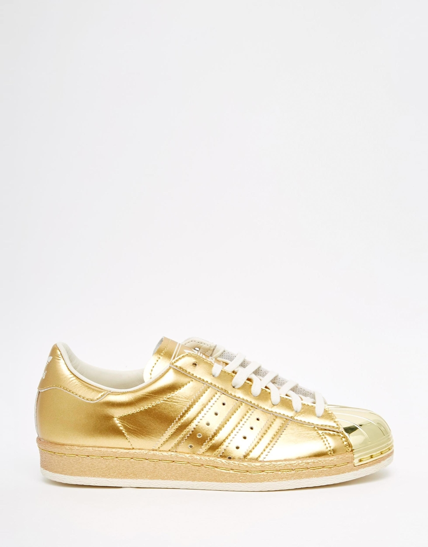 adidas superstar 2 leather white gold trainers. Black Bedroom Furniture Sets. Home Design Ideas