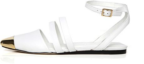 Jenni Kayne Multi Strap Cap Toe Sandals In White Lyst