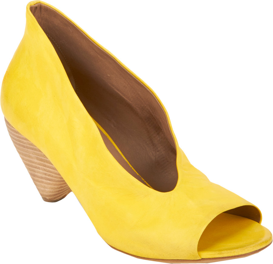 7624dfa133d Marsèll Asymmetric Opentoe Pumps in Yellow - Lyst