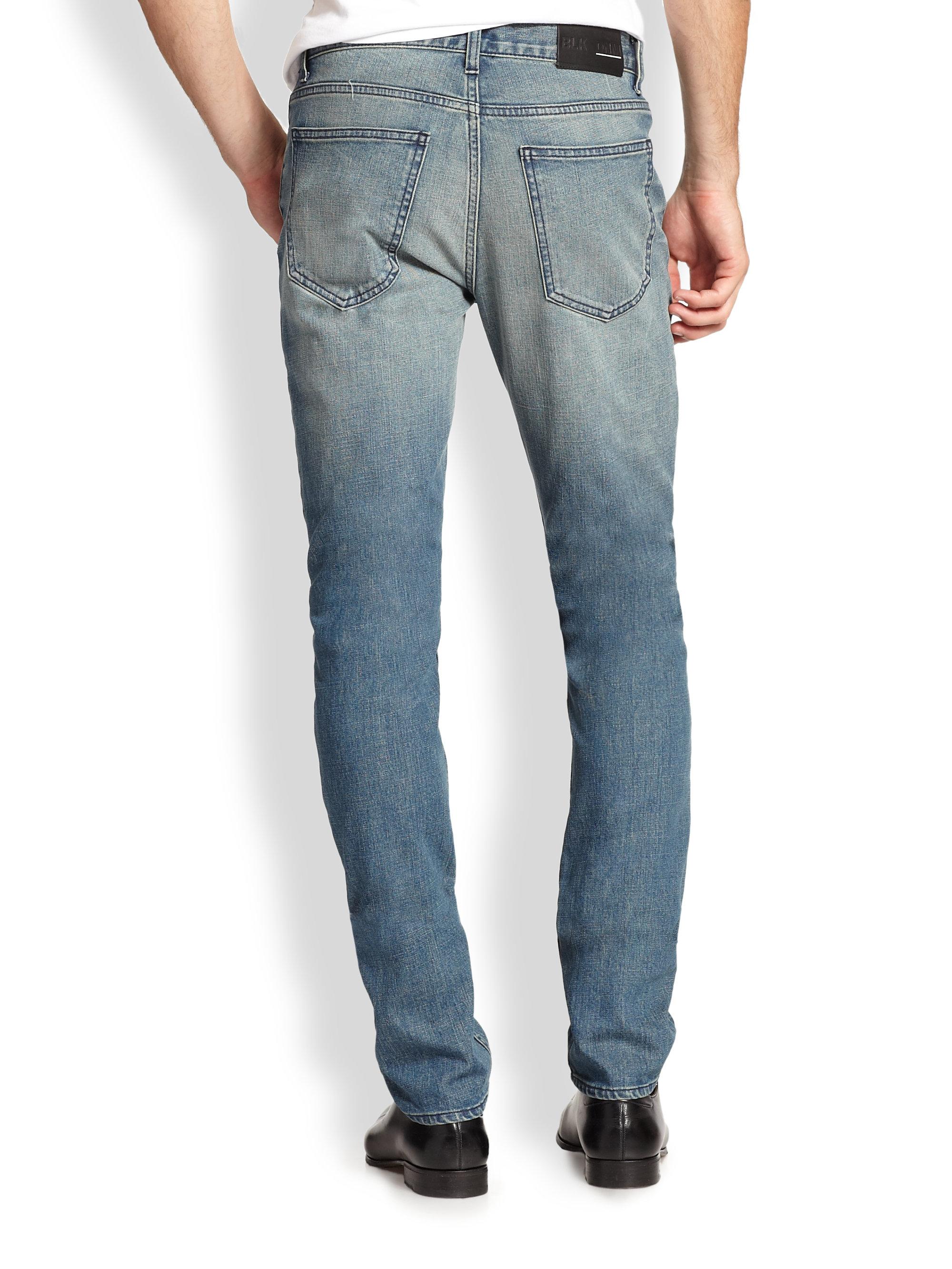 blk dnm mid rise slim fit jeans in blue for men lyst. Black Bedroom Furniture Sets. Home Design Ideas