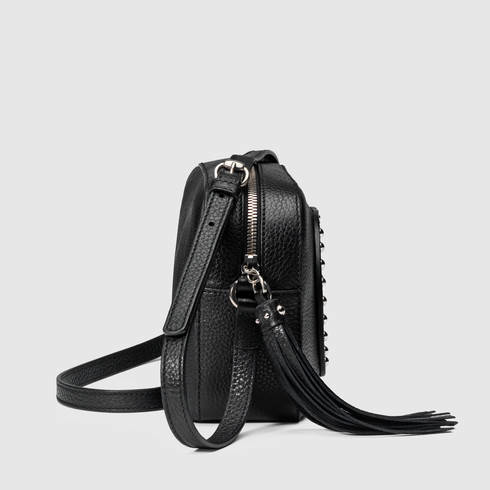 6fcbcd03872 Lyst - Gucci Soho Studded Leather Disco Bag in Black