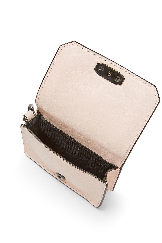 Rebecca Minkoff Leather Love Crossbody Key Fob in Pale Blush (Pink)