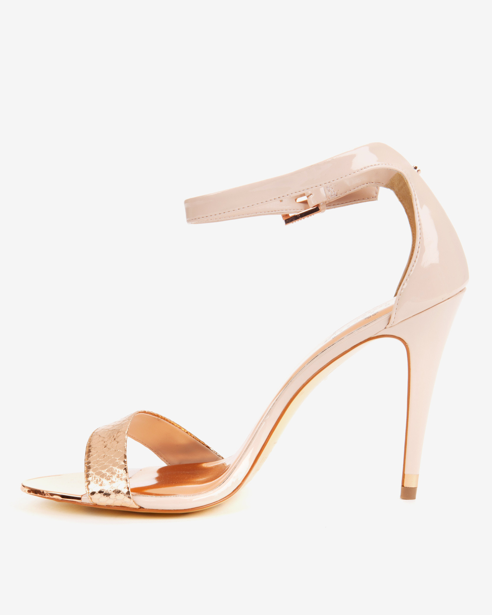 Ted Baker Ankle Strap Sandals in Pink - Lyst