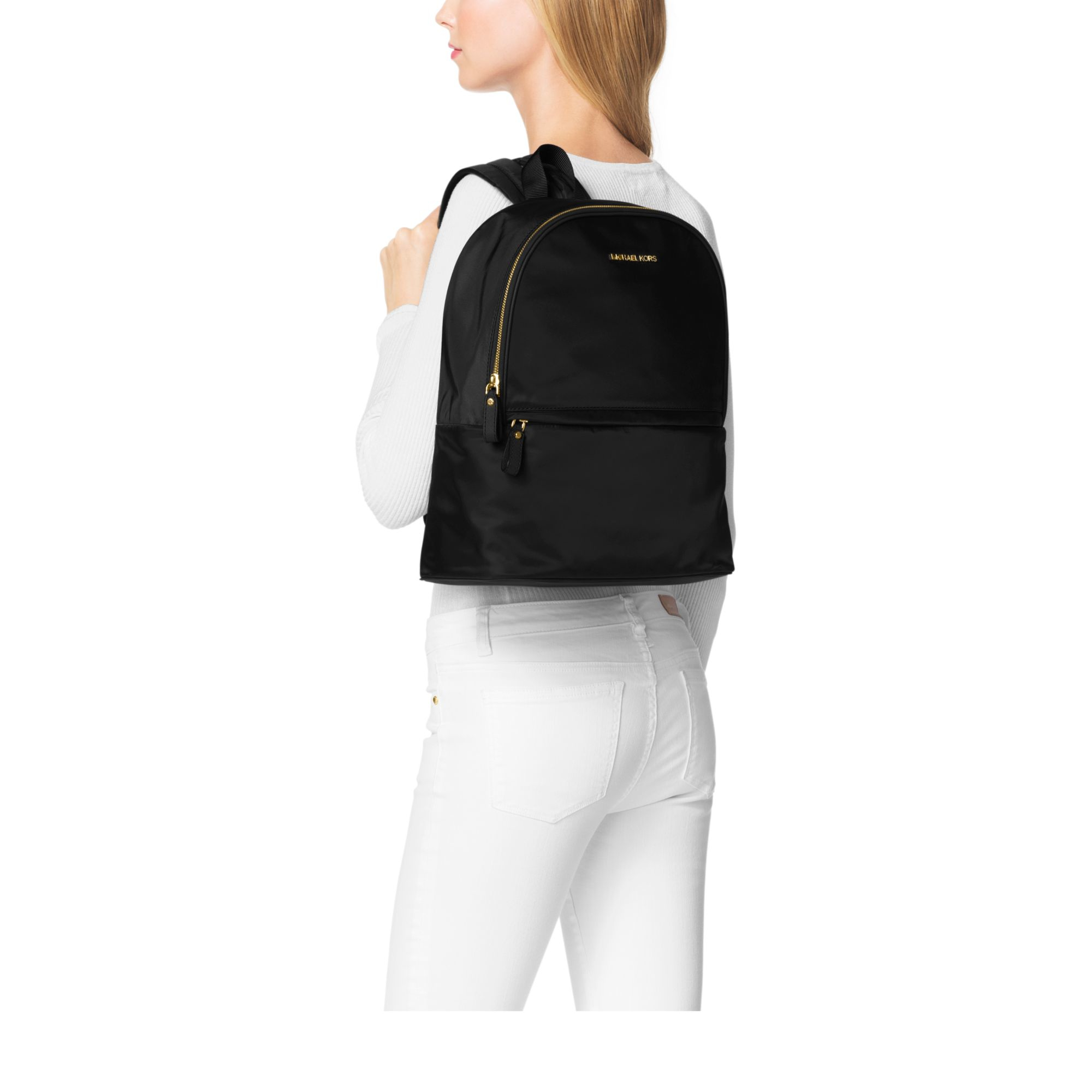 35914b5fb7bcb Lyst - Michael Kors Kieran Large Nylon Backpack in Black