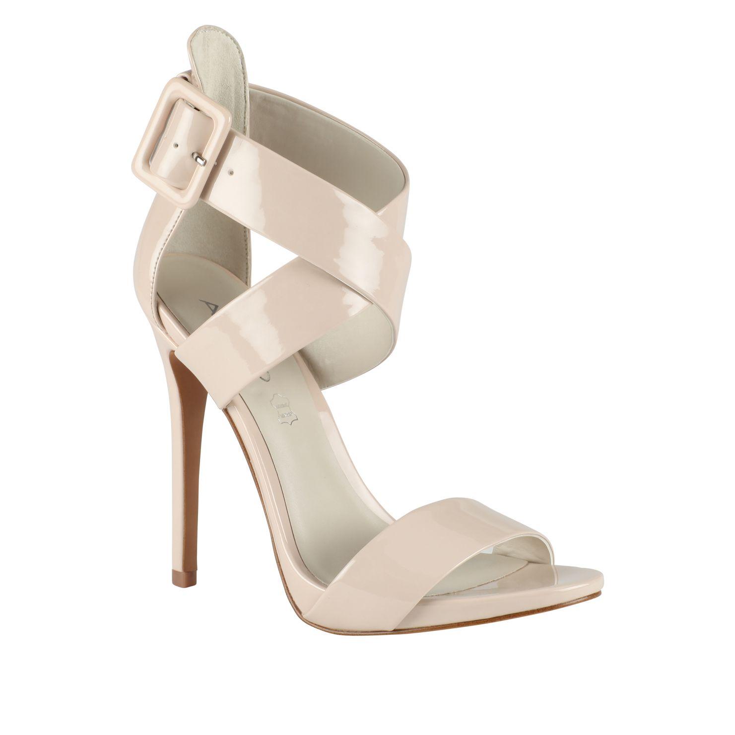 aldo ralevia strap high heel sandals in beige off white lyst. Black Bedroom Furniture Sets. Home Design Ideas
