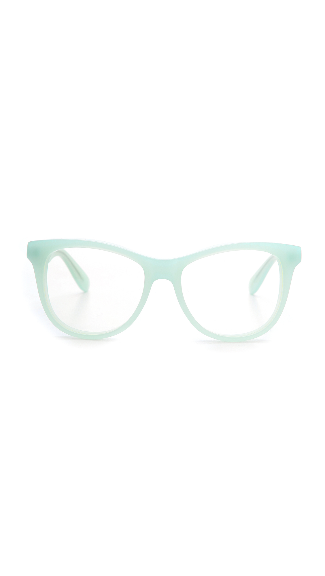 Mint Green Eyeglass Frames : Wildfox Catfarer Spectacle Glasses in Green Lyst