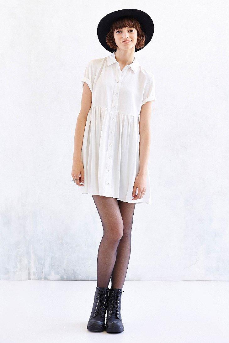 f69d0462094 BDG White Babydoll Shirtdress