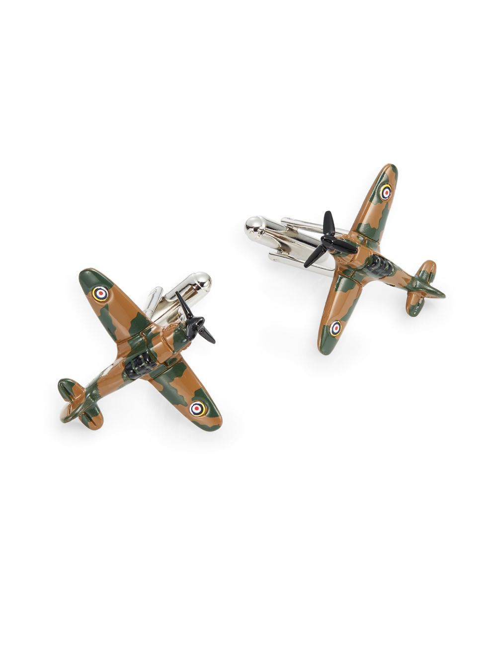 Saks fifth avenue Camouflage Airplane Cuff Links in Green for Men ...