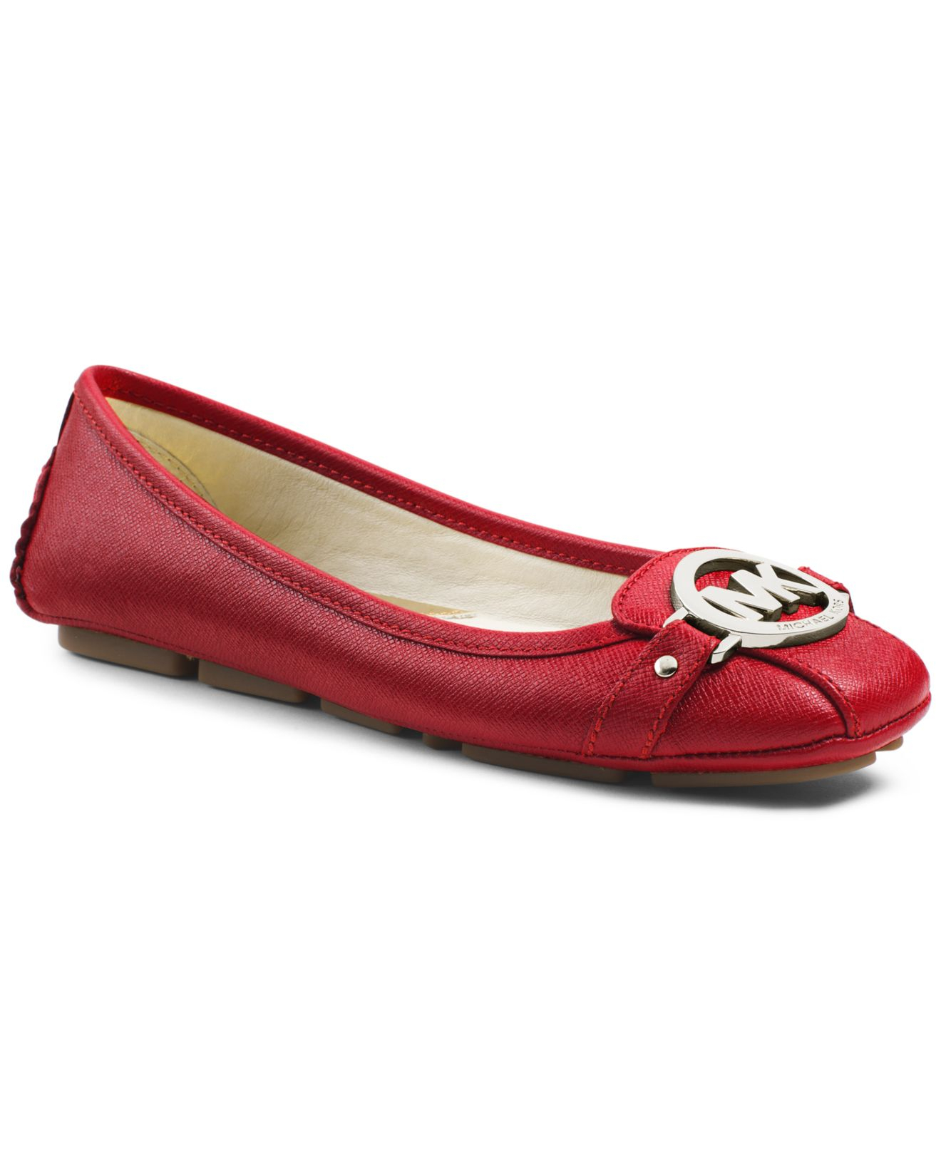 caeb261d989 Lyst - Michael Kors Michael Fulton Moc Flats in Red