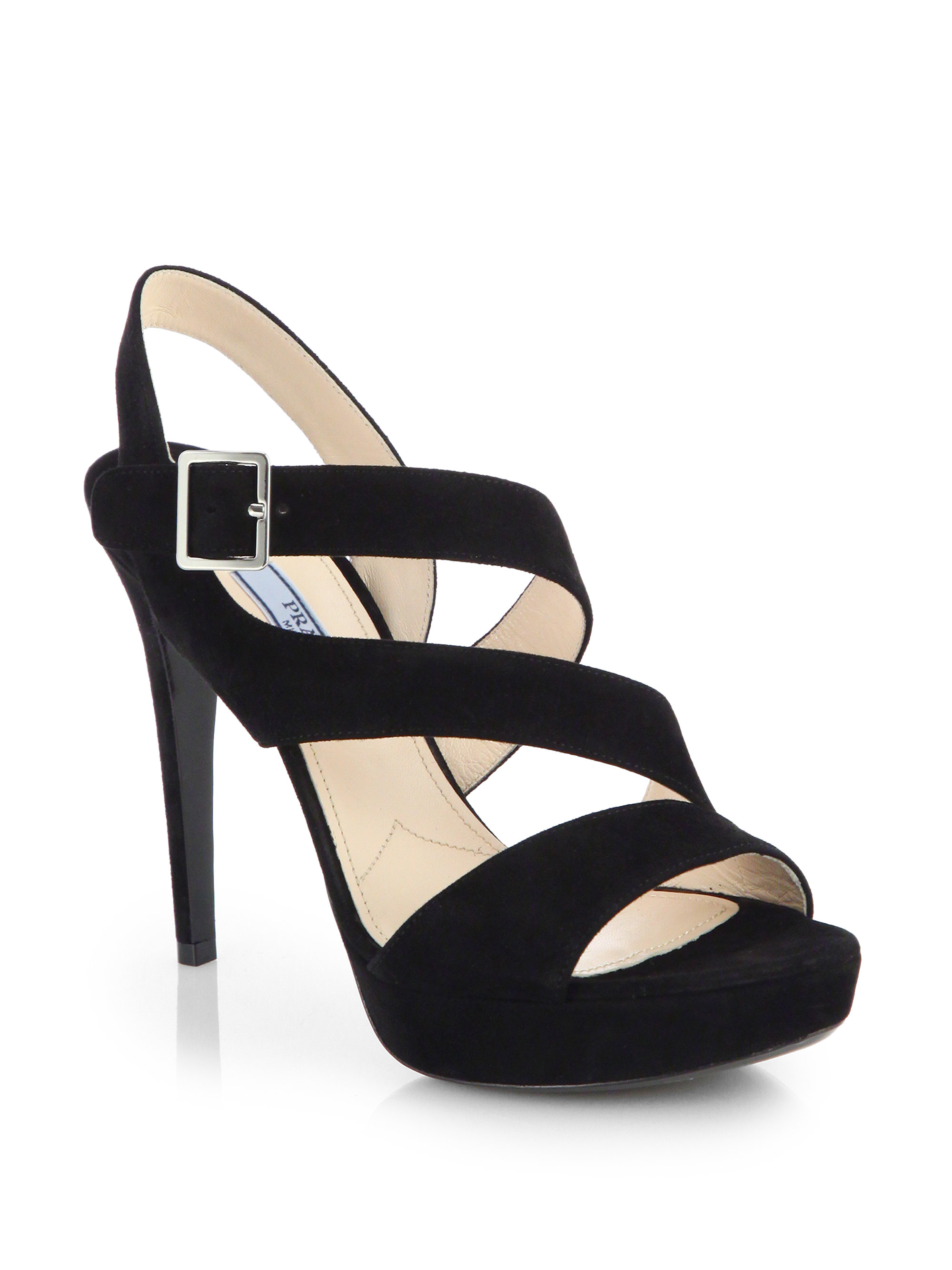 Sandals - Platform Sandals Suede Nero - black - Sandals for ladies Prada T2woPUkd