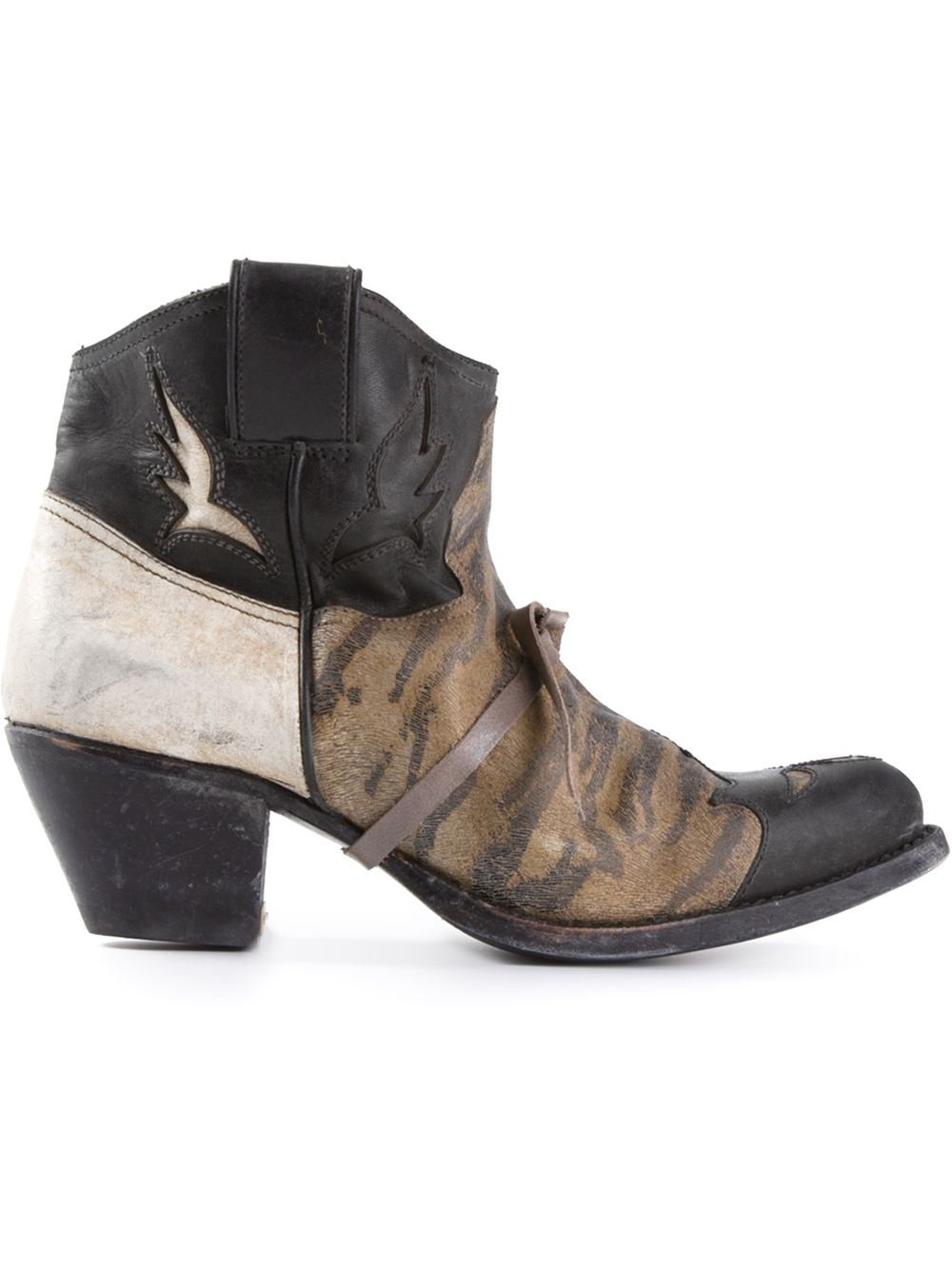 golden goose deluxe brand texan ankle boots in brown lyst