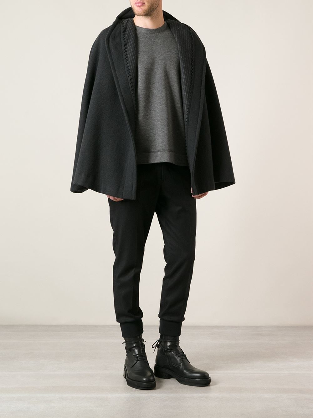 Lyst Dolce Amp Gabbana Cape Coat In Black For Men