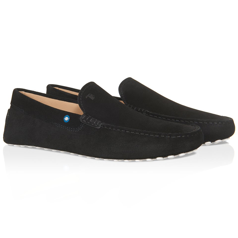 tod s gommino driving shoes in suede in black for lyst