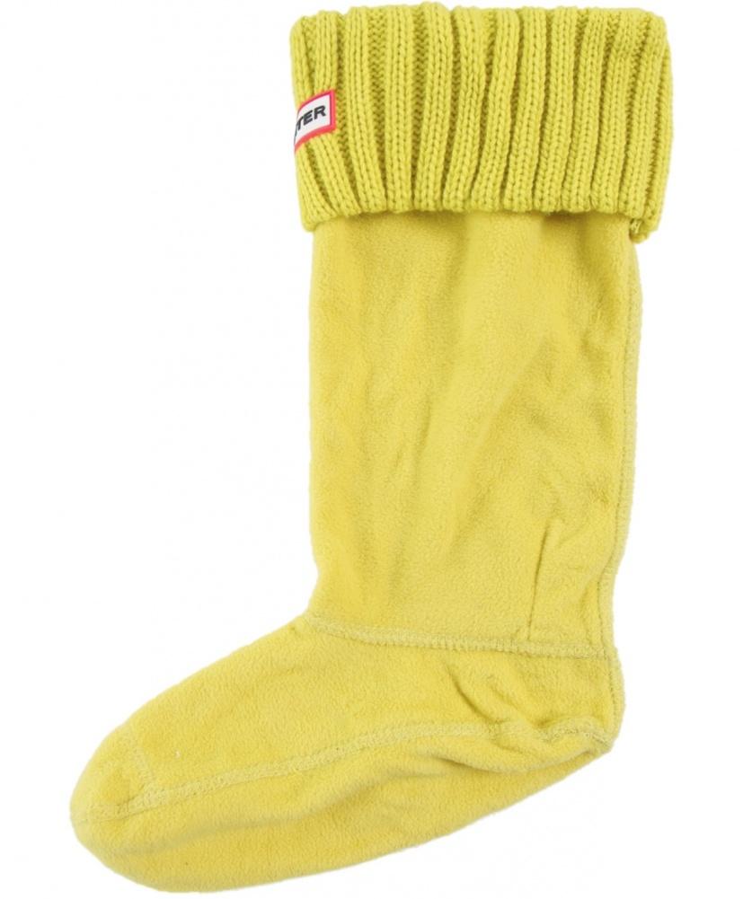 Knitting Chunky Socks : Hunter chunky rib knit boot socks in yellow for men lyst