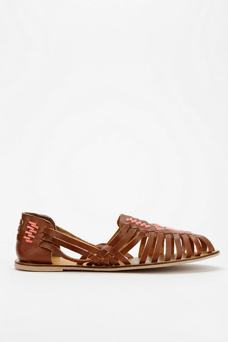 ca26bb89c478a Lyst - Urban Outfitters Ecote Leather Huarache Sandal in Brown