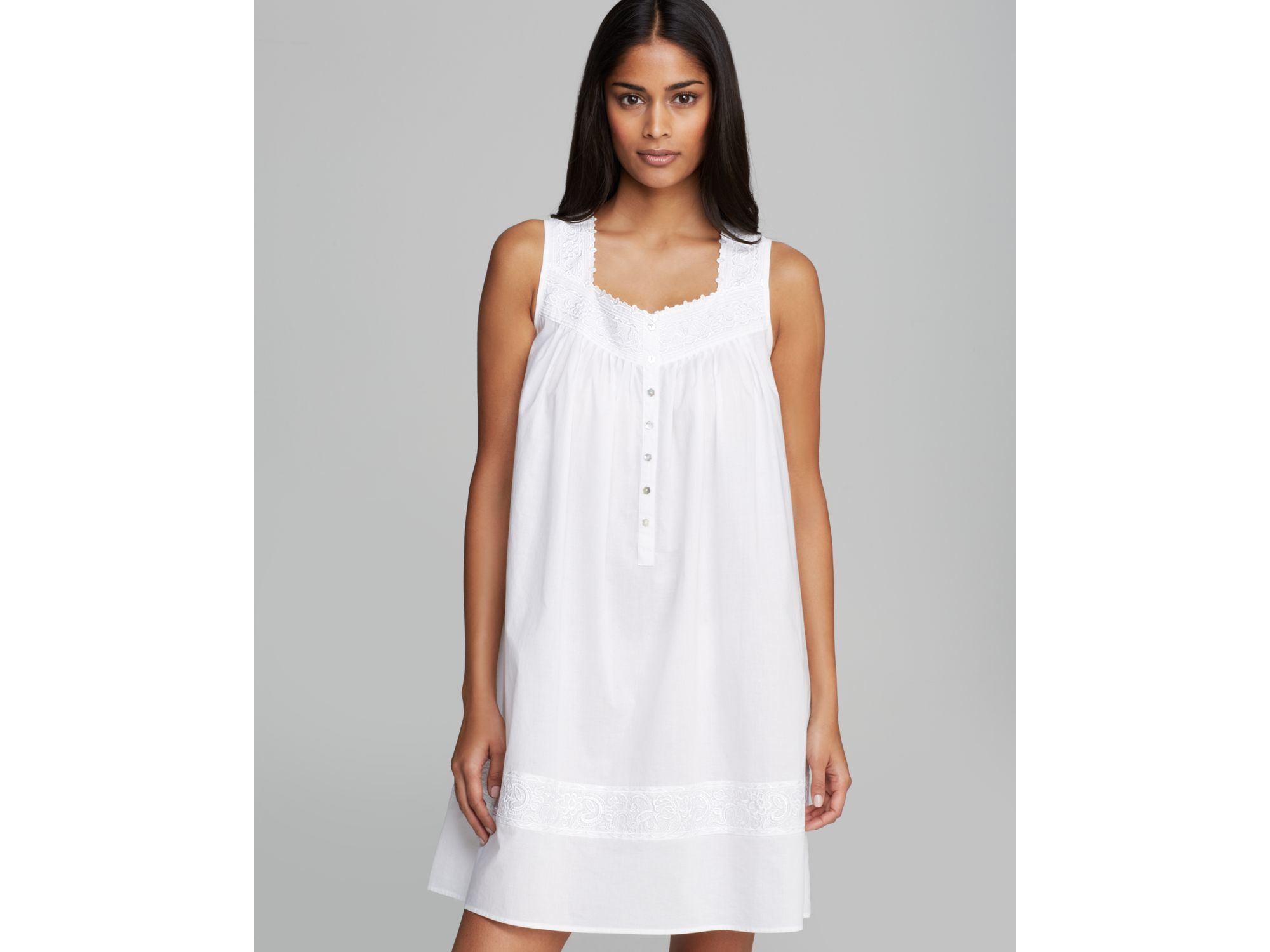 Lyst - Eileen West Short Nightgown - Bloomingdale\'s Exclusive in White