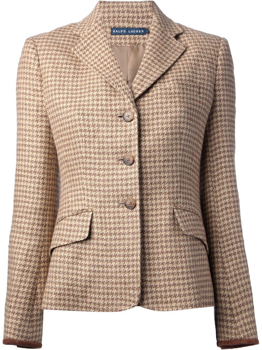 82093977db4 Lyst - Ralph Lauren Blue Label Custom Riding Jacket in Brown