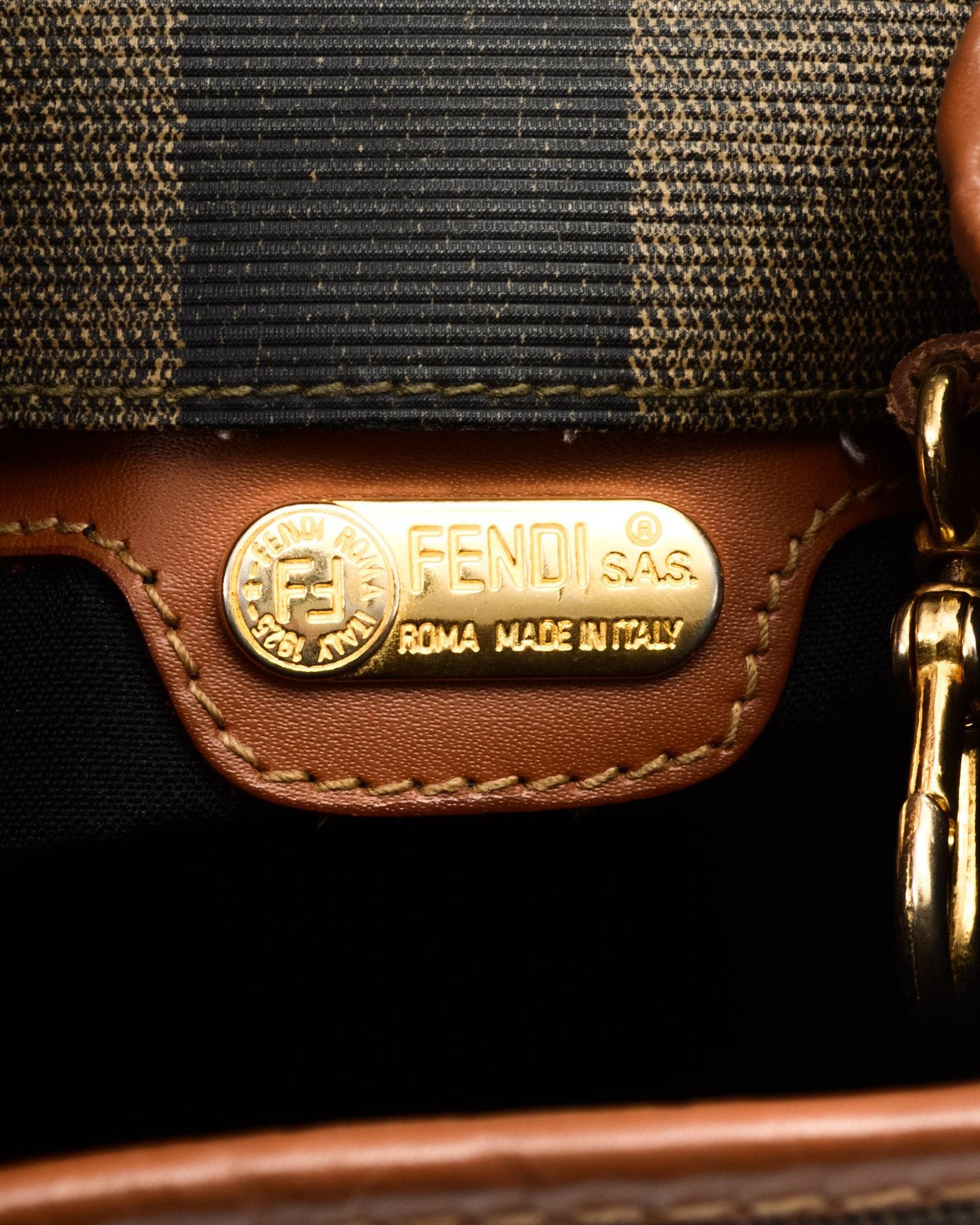 199ee00133 Lyst - Fendi Brown Backpack - Vintage in Black