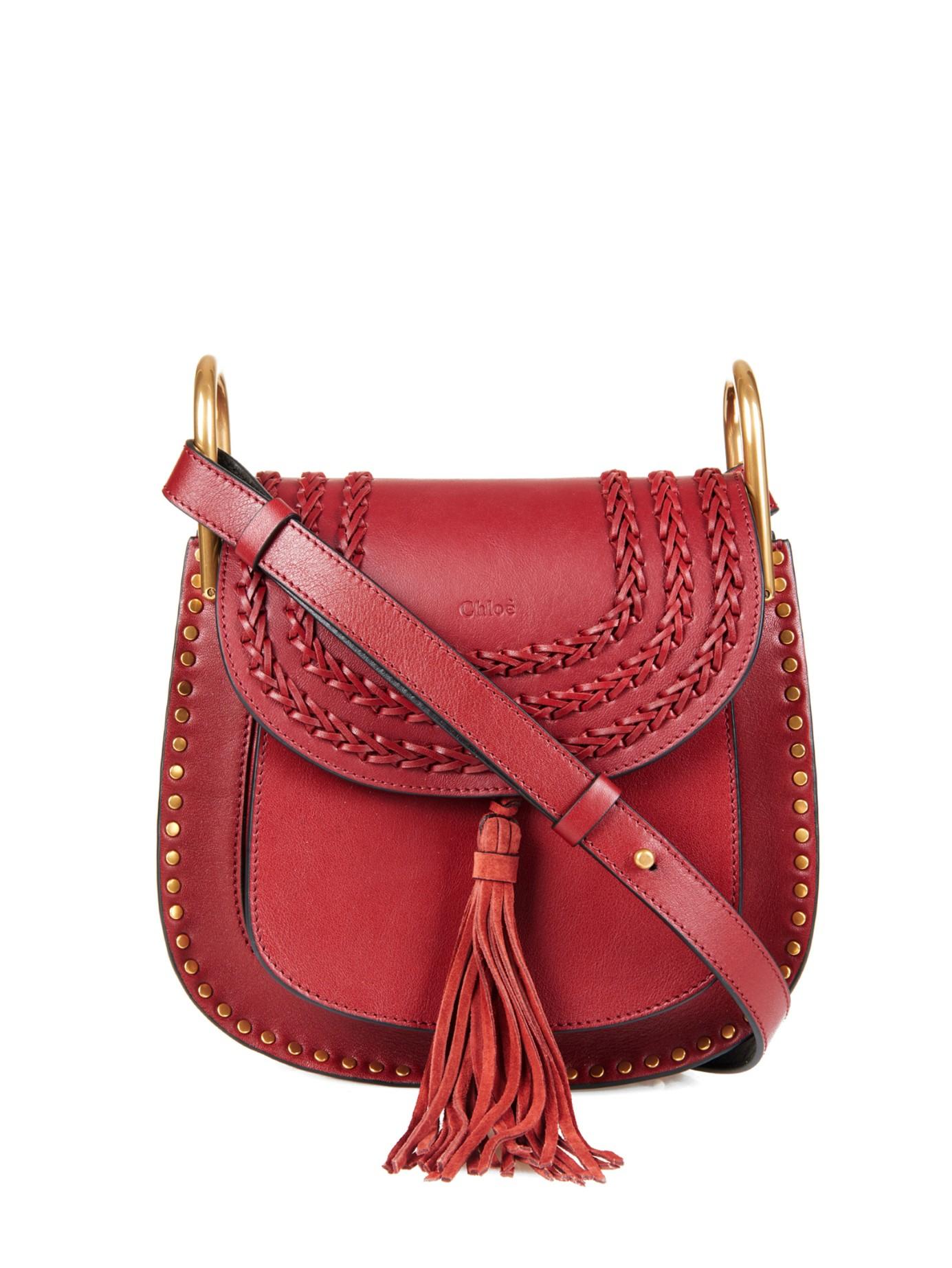 18b85b4c Chloé Red Hudson Small Leather Shoulder Bag