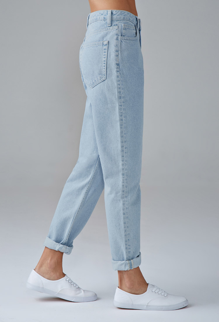 Forever 21 Mom Jeans In Blue Lyst