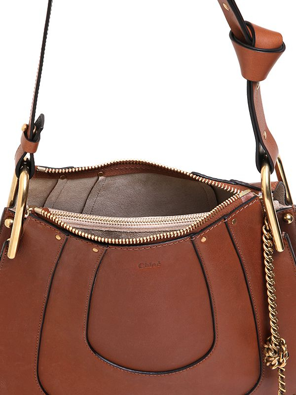 e27f6928 Chloé Brown Small Hayley Smooth Leather Hobo Bag
