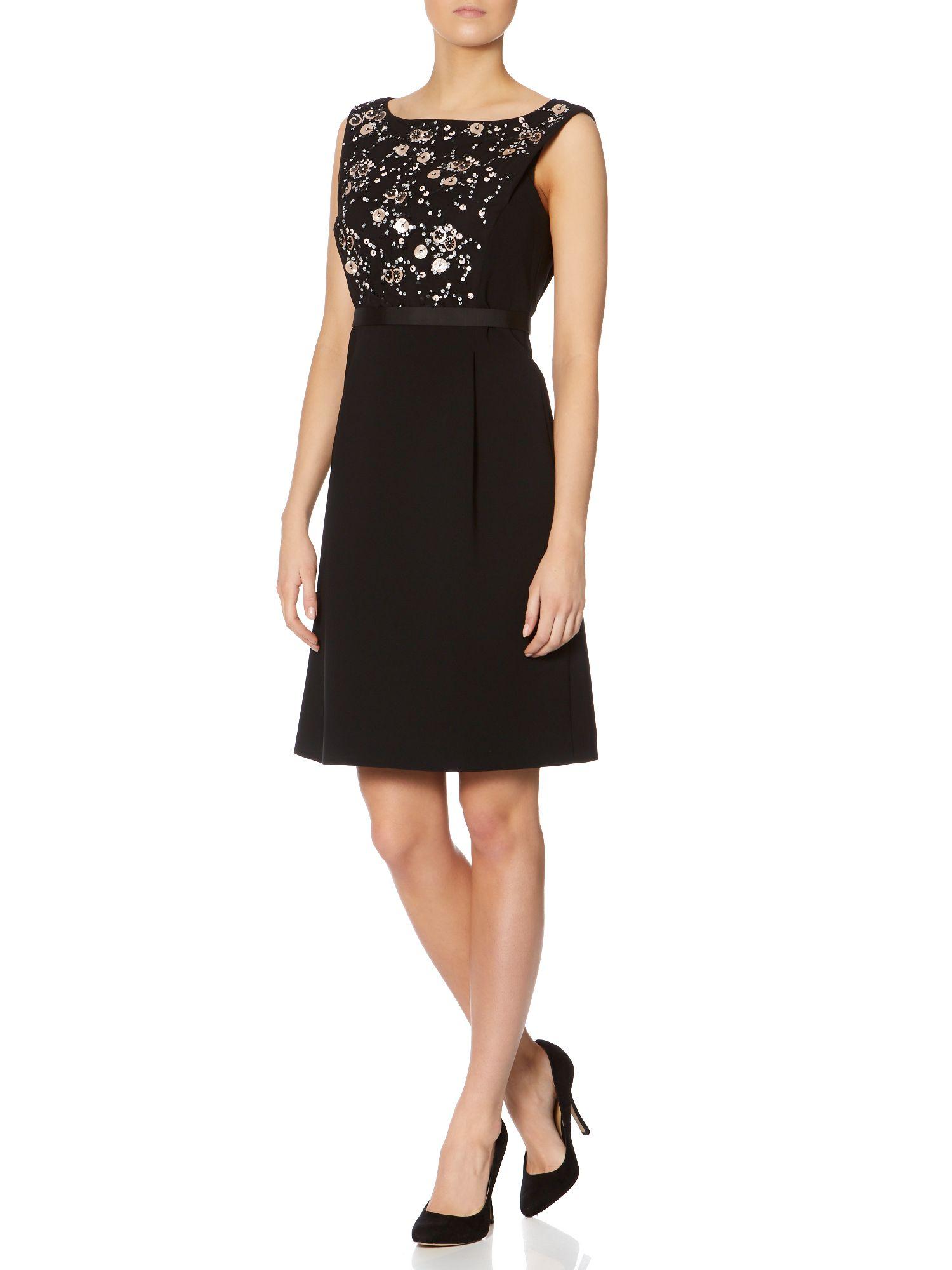 Max mara Erbert Embellished Front Sleeveless Dress in ...