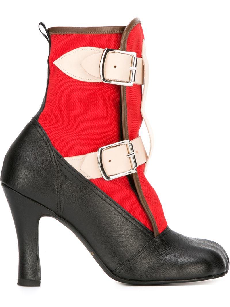 Lyst Vivienne Westwood Bondage Boots In Black
