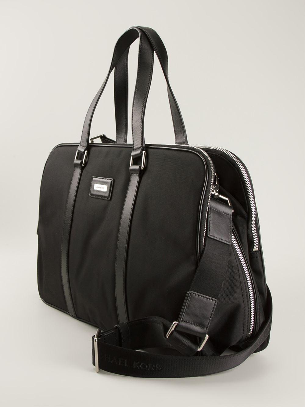 michael kors laptop bag in black for men lyst
