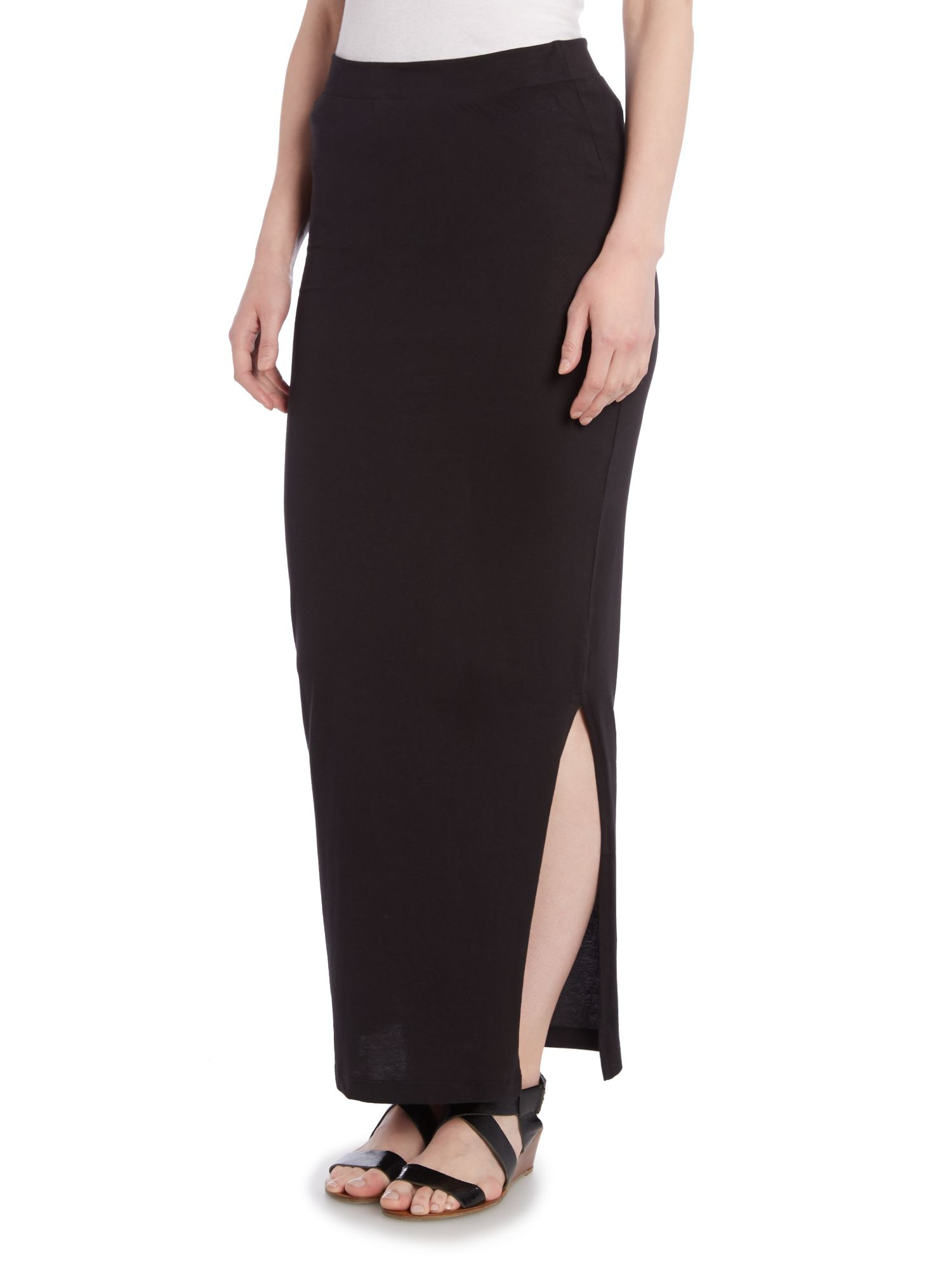 Vero moda Maxi Tube Skirt in Black | Lyst